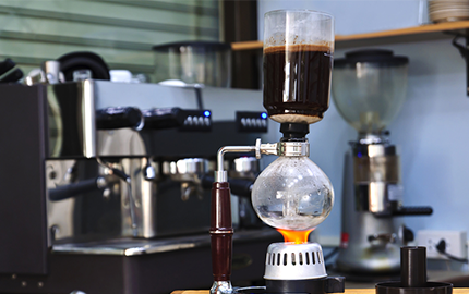 Siphon brewer with perfect brew levels
