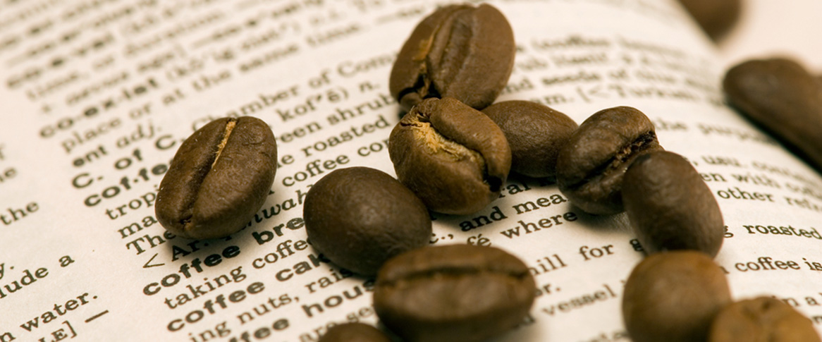 Coffee beans on coffee glossary page