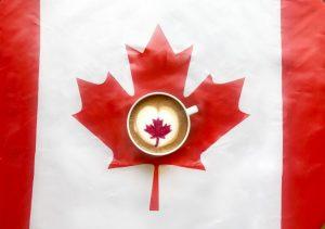 canada 150 latte art