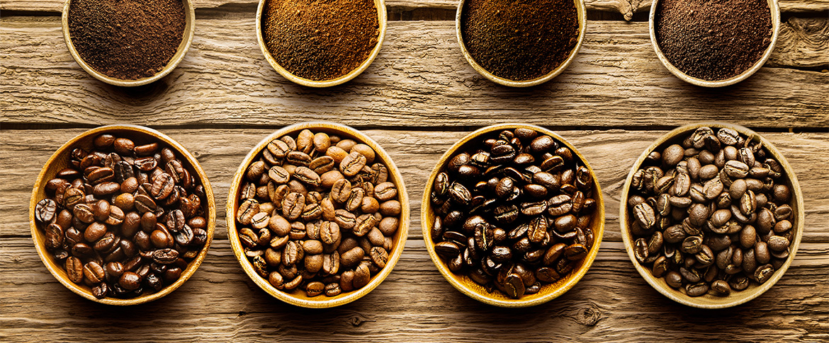 Ground coffee and coffee beans from Canterbury Coffee