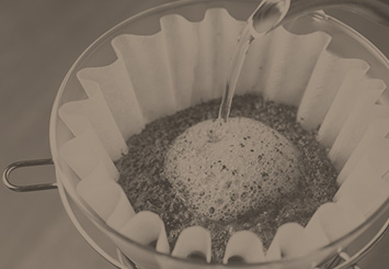 Coffee filter for pour over coffee
