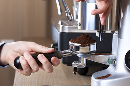 Canterbury Coffee espresso being ground